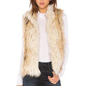 BB Dakota Elvan Faux Fur Vest | Size S